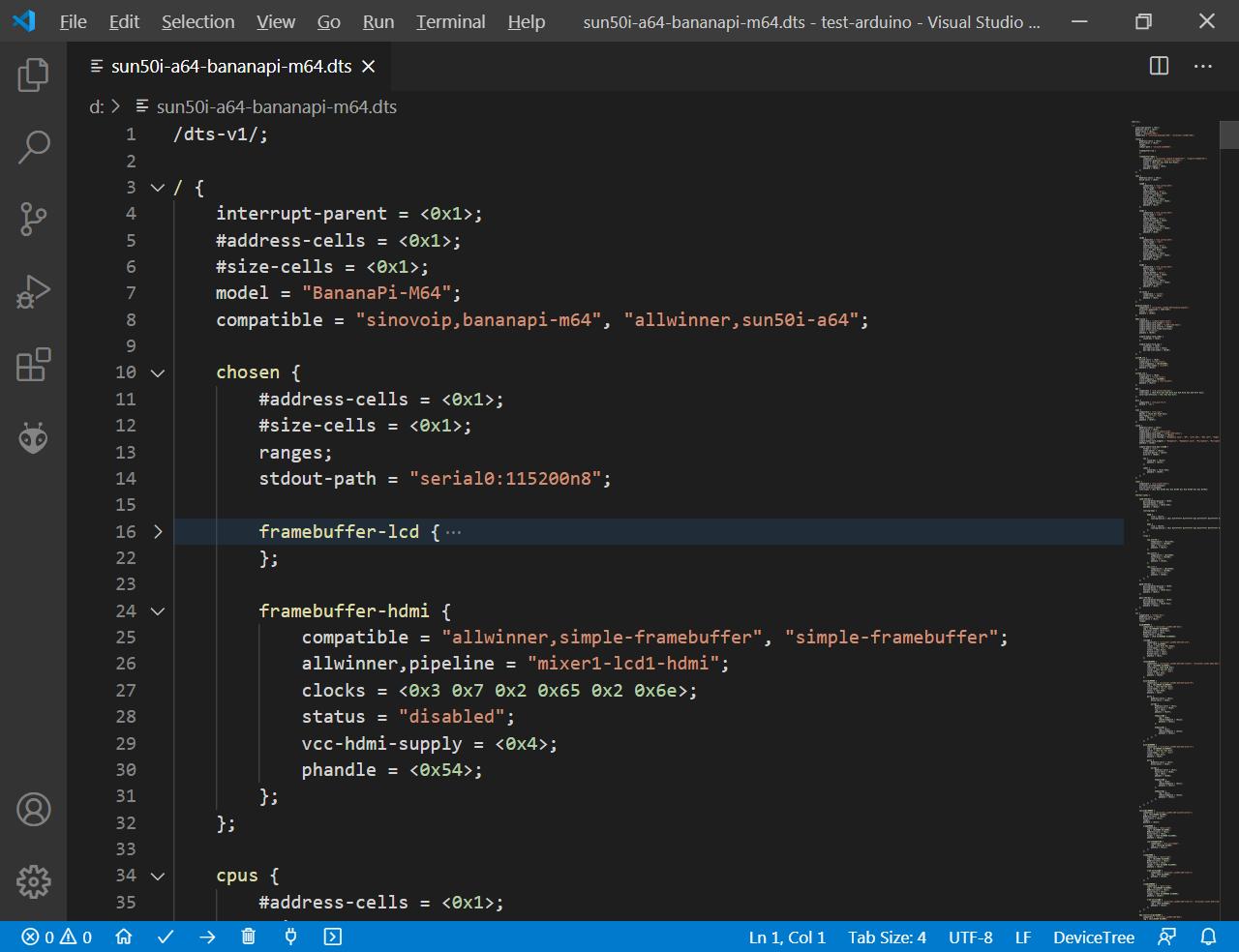 DeviceTree Language Visual Studio Code